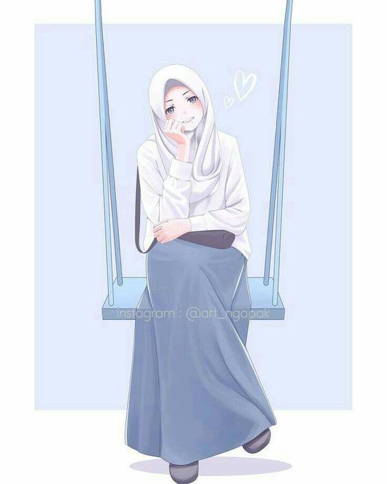 Kartun muslimah paling cantik