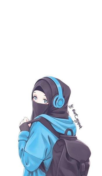 Kartun muslimah keren bercadar