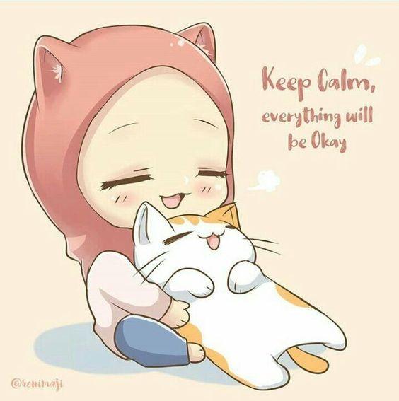 Gambar kartun muslimah lucu dan imut