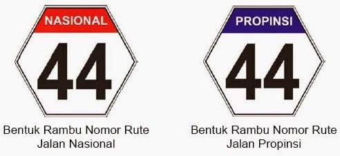 Rambu lalu lintas nomor rute